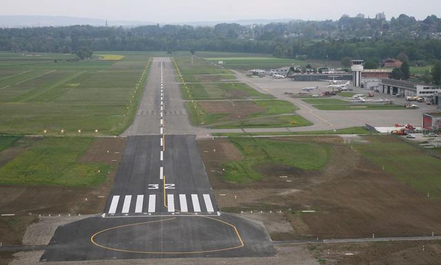 LSZB_runway view