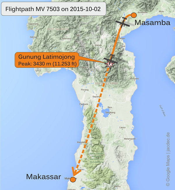 2015-10-02_PK-BRM_DHC6_AviaMandri@over_Sulawesi_MAP2