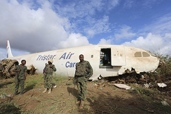 2015-10-12 TriStar Cargo A300 made forced landing west of Mogadishu
