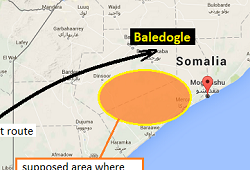 2015-10-29 AMISOM Dornier 328 crashed landed south of Mogadishu