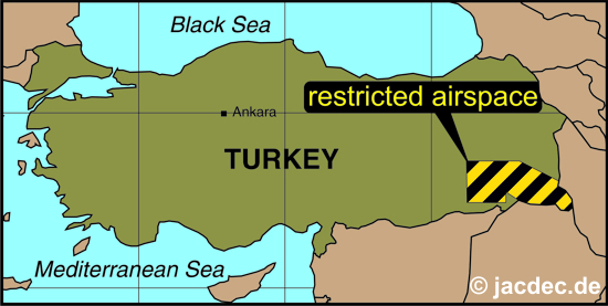 2015-10-08 Parts of turkish airspace restriced because of military activity