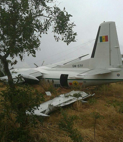 2015-11-02 Senegal Air Force Fokker F-27 destroyed in off airport landing in Mali