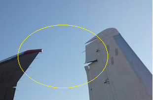 2015-11-08 Aeroflot Boeing 777 hit Antonov during taxi at Khabarovsk