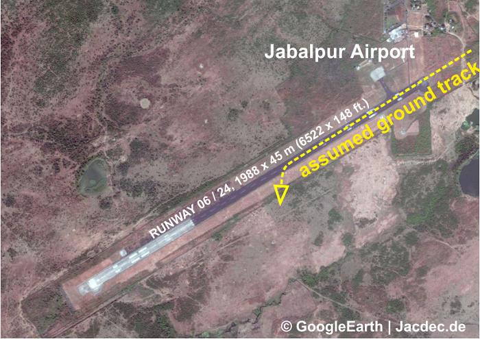 2015-12-04 Spicejet DHC-8 hits boar on landing Jabalpur