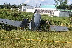 2016-01-05 Douglas AC-47 Turbo off runway at Tres Esquinas, Colombia