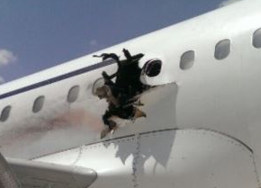 2016-02-02 Daallo Airlines A321 damaged by explosion at Mogadishu