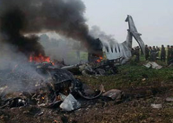 2016-02-10 Myanamar Air Force B1900 crashed near Naypyidaw