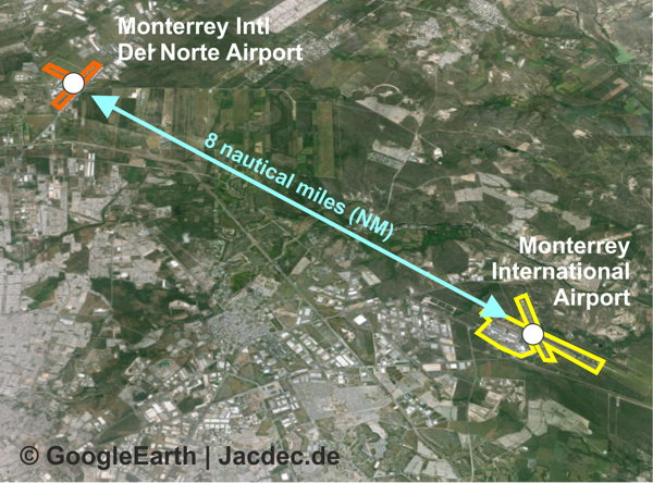 2016-03-31 Aeromexico E-170 lands at wrong airport in Monterrey