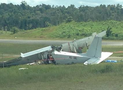 2016-04-13 Sunbird BN-2A Islander crashed near Kiunga, PNG