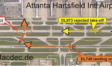 2016-04-27 two Delta Air Lines MDs in runway conflict at Atlanta