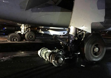 2016-05-13 Lufthansa Airbus A330-300 damaged on landing at Mumbai