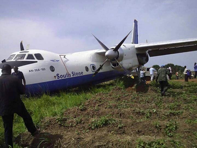 2016-06-04 South Stone Antonov An-30 overran runway at Yambio