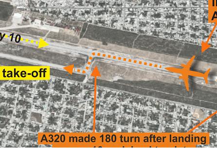 2016-07-13 Aeromexico + Interjet runway incursion at Merida