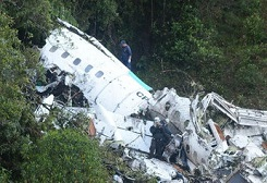 2016-11-28 LAMIA Avro RJ-85 crashed near Medellin out of fuel