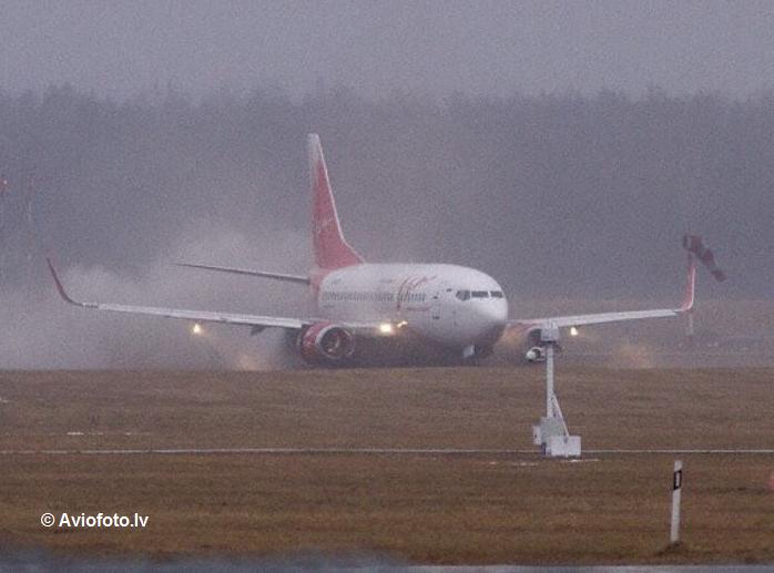 VIM Airlines Boeing 737-500 ran off runway at Riga Airport