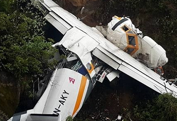 2017-05-27 Summit Air (Nepal) crashed short of runway at Lukla