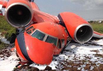 2017-07-29 CAVOK Antonov AN-74 overran runway at Sao Tome