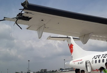 2017-08-03 Wings ATR-72 and Lion Air B737-900 in runway collision at Medan