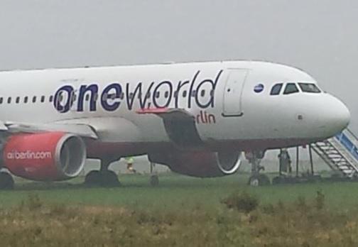 2017-09-30 Air Berlin A320 overran runway Westerland, Sylt