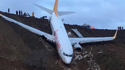 2018-01-13 Pegasus B737-800 landing accident at Trabzon