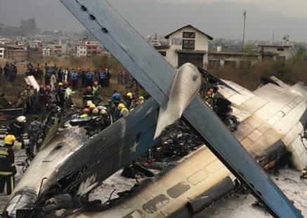 2018-03-12 US Bangla DHC-8-400 crashed on landing Kathmandu