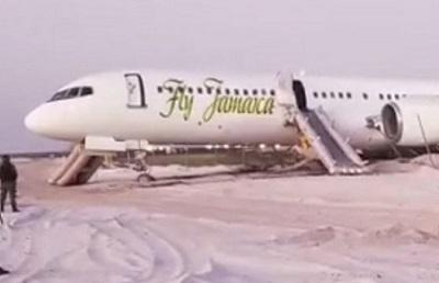 2018-11-09 Fly Jamaica B757-200 overrun runway at Georgetown